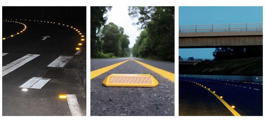Amber Reflective Road Studs application
