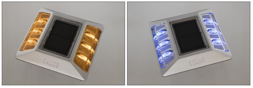 Solar Reflective Pavement Marker Light