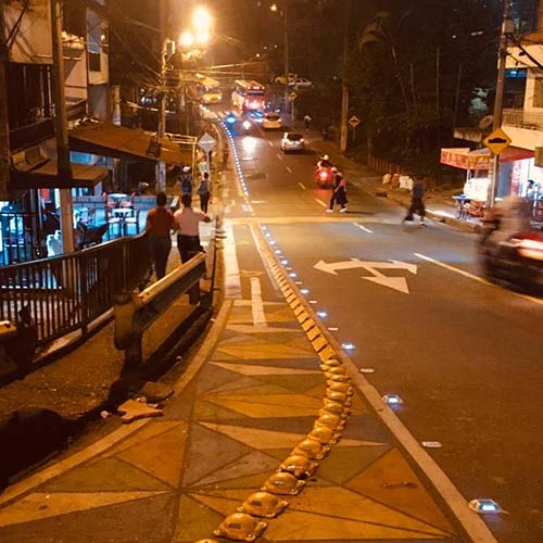 NOKIN LED Solar Reflective Pavement Markers in Colombia